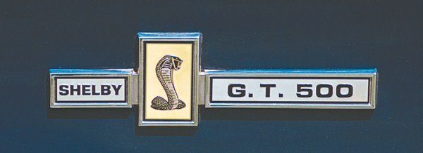 The same badge used in the grille and on the dashboard also appeared on the driver's side of the large rear face of the spoilered deck lid. Unlike the grille application of the same emblem (which didn't show up right away), Shelbys carried the deck lid badge right from the very first prototype GT500.