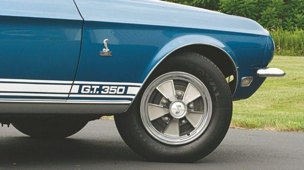As in 1967, the standard wheel for the 1968 Shelby was a simulated mag wheel cover (often referred to by the somewhat snappier, but also incorrect, hubcap) atop a plain black wheel but, unlike today, nearly all 1968s were so equipped.