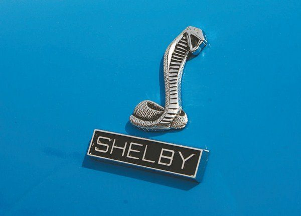 It takes very close examination to discern the differences between the 1968 and 1969 snake badges, but the changeover of lettering in the rectangular box below from COBRA (1968) to SHELBY (1969) is more obvious.