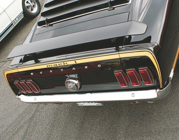 While the nose of the 1969 Shelby went further stylistically, from the base Mustang than any previous year Shelby, the opposite end, ironically, was closer than the 1967s or 1968s. This was due to the Mustang having adopted a spoilered deck lid and end caps, which heretofore had been a Shelby-only feature.