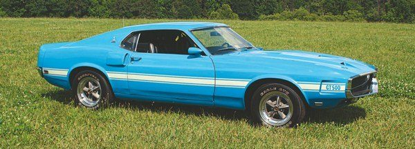 Grabber Blue was available later on in Shelby model year 1969, before it became a standard Mustang color for the 1970 model year.