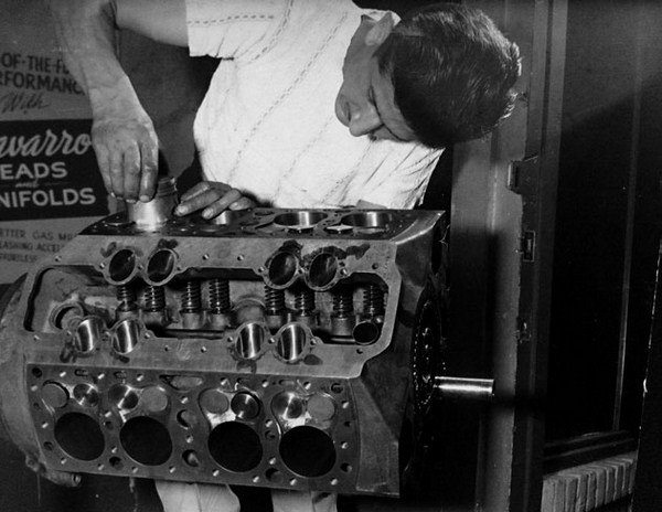 Barney Navarro, who started in the performance business machining Weiand speed equipment, began his own business in 1947. He improved on everything his hands touched and was a pioneer in the evolution of the performance flathead. (Photo Courtesy H&H Flatheads)