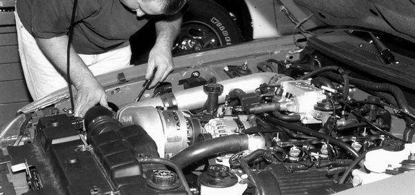 21. With the Novi 1000-RR supercharged engine running, a series of visual checks is performed. Then it's time to go to the dyno room. Results show a 77 to 78 percent increase in max horsepower at 5,750 rpm, and a 49 percent increase in max torque at 4,750 rpm; and that's without one of Paxton's aftercooler units installed.
