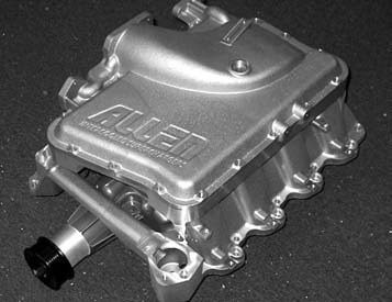 Allen Engine Development manufactures its own air-to-water intercoolers for its kits.