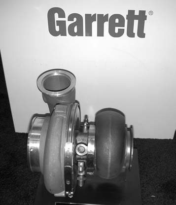 """Garrett's quick-spooling GT-45R model is ideal for 4.6L to 8.1L engine displacements. This turbo produces between 600 and 1,200 hp, depending on the engine installation. The """"R"""" connotation stands for """"race only."""""""