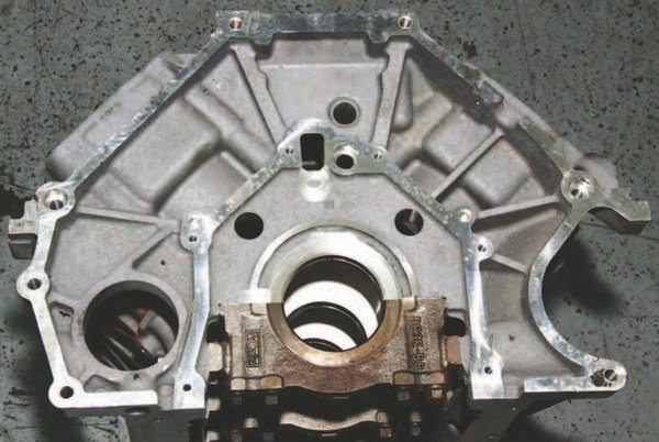 The Coyote shares the same bellhousing bolt pattern with the 4.6L and 5.4L engines, making swaps simple and easy. This block bolts right up to a 4R70W/4R75W or any TREMEC/Getrag manual transmission.