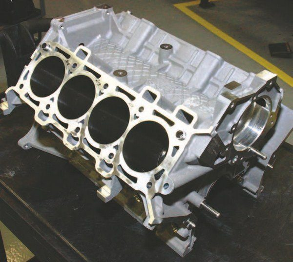The basic 5.0L Ti-VCT block is the most rugged Modular-based casting to date, but it has nothing in common with the 4.6L Modular except bore spacing and deck height. This block can withstand 800 to 1,000 hp, although it is suggested that you opt for the Pro Mod or Holbrook block with thicker cylinder liners if you plan on pushing power beyond 800 hp.