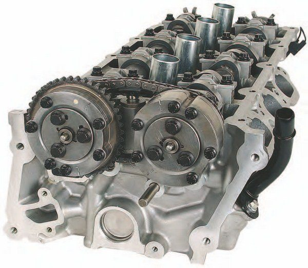 The Coyote four-valve cylinder head is one of the most advanced production Ford cylinder heads ever produced. Coyote intake ports flow approximately 285 to 290 cfm stock, varying from casting to casting. With CNC porting, you can gain as much as 25 to 40 cfm intake and 20 to 30 cfm exhaust. When the Coyote was introduced in 2011, the media said that these heads actually outflow the Yates D3 small-block casting, which is a race head.