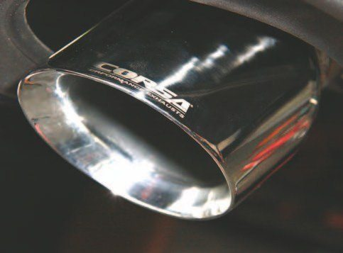 Cool Corsa polished tips or black. The choice is yours. These 4.000-inch tips amplify the Coyote's bark, yet they're not bothersome in the cabin. This is the 14332 single polished tip system. You may opt for quad tips in polished or black. You can even order the tips alone.