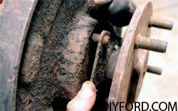 How to Disassemble Ford 9 Inch Axles: Brake Drum and Axle Shafts 3
