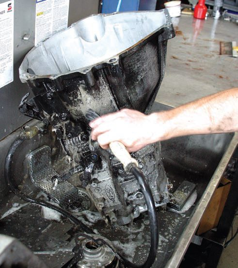 It's always good to have a parts washer at your convenience to remove heavy grime. If you don't have a parts washer, most machine shops offer parts-cleaning service and hand you components that are clean and ready for assembly.