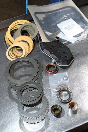 this tci automotive transmission overhaul kit has just about everything  needed to complete an aode/