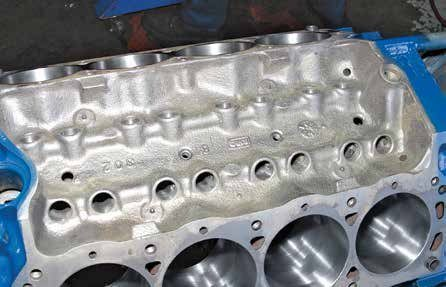 """This is a June 1967 """"302"""" block that was factory assembled as a 289. """"C8OE"""" 302 blocks were cast as early as February 1967. Based on several examples seen in a variety of machine shops through the years, Ford produced a lot of 1967 289 engines using C8OE 302 blocks."""