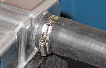 Most vintage Fords were fitted with tower-style hose clamps, which were quick-install assembly-line clamps. They are one-time-use clamps. Opt for a good aftermarket stainless steel worm gear professional-grade hose clamp. If you put a cooling system to the test, use two clamps at each end.