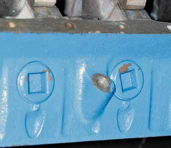 Boss 302/302 Tunnel Port blocks have screw-in freeze plugs due to the high cooling system pressures that they run at high RPM.