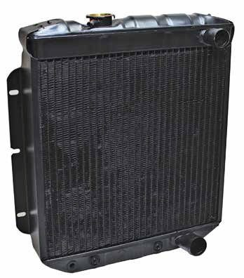 Here is a 201⁄4-inch standard small-block radiator for compact and intermediate Fords with a four-row core. When you specify a four-row core, you greatly increase cooling capacity. Add a fan shroud, the right fan, and proper fan depth, and you improve cooling even more.
