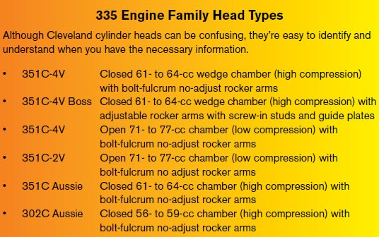 Small-Block Ford Cylinder Heads Parts Interchange - DIY Ford