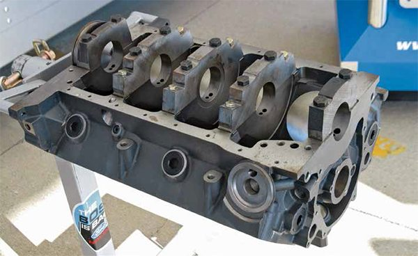 This is the M-6010-BOSS302 block from Ford Racing, which has replaced the Sportsman and other similar high-performance blocks. In the beginning, the M-6010-BOSS302 block had its share of teething problems, which have been corrected. This block is cast of diesel-grade iron with a 4.125-inch bore and 8.200-inch deck height with plenty of room for finish work. There's even a large-bore version of the Boss 302 block, M-6010-BOSS302BB.