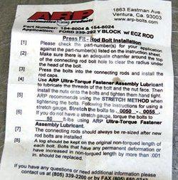 arp rod bolt stretch gauge instructions