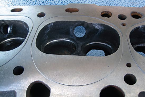 The Knuckleheads Racing Team are running a turbocharger on their engine, so they needed to find an effective solution to sealing the cylinder heads to the block under the extreme pressures created by this form of induction. To supplement the fire ring in their copper head gaskets, the team had their cylinder head surfaces grooved to accept an O-ring.