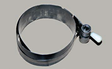 A piston ring compressor is a musthave tool when assembling an engine. Ring compressors are available in various styles. Some choices are an individual fixed tapered-style from ARP; pliers-style from K-D tool; and the spring-steel type, adjustable from 3½ to 7 inches by Lisle tool, which is the type I prefer.