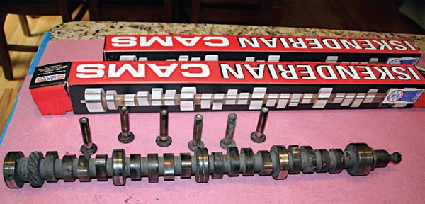 Rich Stuck has two Iskenderian camshafts from which to choose for these engine builds. Although several aftermarket manufacturers grind camshafts for the Y-block V-8, these particular cams were chosen because they are copies of the original high-performance camshafts offered by Ford in 1957.