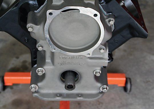 A cast-aluminum timing cover from John Mummert replaced the heavy cast-iron OEM timing cover on the performance engine. Not only does it save weight, it also looks great.