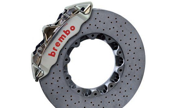 Brembo ceramic rotors are beyond the needs (and budget) of most readers of this book but they do represent the ultimate in terms of stopping power and low weight. Such rotors can be used on the street although they tend to perform poorly until warmed up. Once warm, they have incredible stopping power and fade resistance. Special pads and calipers are required due to the higher heat and pressure.