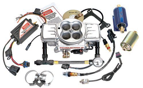 """The Powerjection III kit from Professional Products provides throttlebody fuel injection. You have to install an electric fuel pump in the tank, install sensors, use high-pressure fuel lines, and adapt the system to your wiring harness. You hook up all the wiring and check everything for leaks and other problems before you turn the key to start it. You can use it in a """"blow-through"""" configuration with a supercharger or turbocharger because it has a built-in 2.5-bar MAP sensor that can read up to 25 psi of boost. The Powerjection III is good for up to about 550 hp with the standard parts. A larger throttle body (1,200 versus 750 cfm), larger fuel injectors, and a more-powerful fuel pump can raise the power capability to about 700 hp. (Photo Courtesy Professional Products)"""