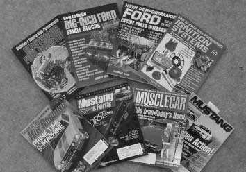 There are many technical how-to books available from CarTech to assist you on building engines, chassis, and other parts of your car. Even if you don't do your own work, you can educate yourself and tell someone else exactly what you want. Enthusiast magazines can also be a good source of information and inspiration. Most of the time, magazines include a healthy mix technical articles, product installs, and car features. (photo courtesy Travis Thompson)