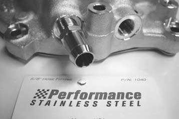 Not all water fittings are created equal. If you want a better-looking fitting that won't rust and corrode, you should check out the full line of Performance Stainless Steel fittings. These fittings will look good forever.