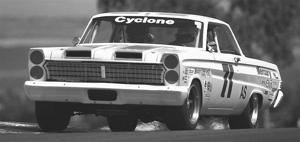 Rick Carlile's 1965 Mercury Cyclone Restomod commands respect when the 525-hp small-block pushes the car to 150+ mph during track events. The car is seen here navigating turn 2 at Infineon Raceway. (Photo courtesy Bob Solorio)