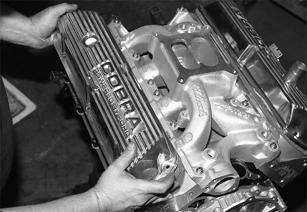 Cobra valve covers from Scott Drake Reproductions are a nice touch for a vintage Ford. Unfortunately, at press time, Ford has ordered Scott Drake Reproductions to halt production of these striking valve covers. Availability is unknown.