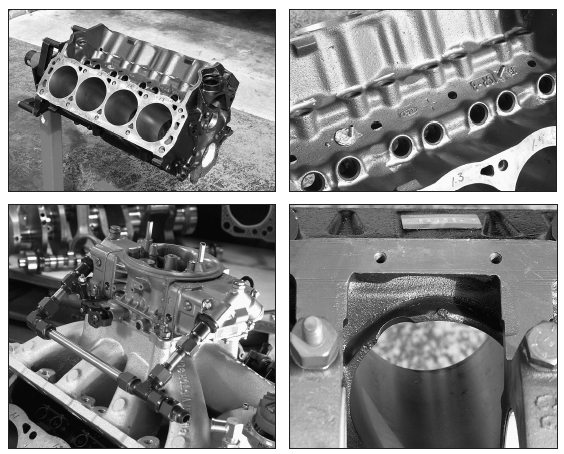 Our foundation for the Trans Am Racing 408ci stroker is a 1980s-vintage 351W block that has been properly modified. It has been bored .030-inch oversize and line-bore checked. It had its decks milled, its cylinder skirts notched, and it has also been thoroughly cleaned. Now we're ready for assembly. This is not a roller block.