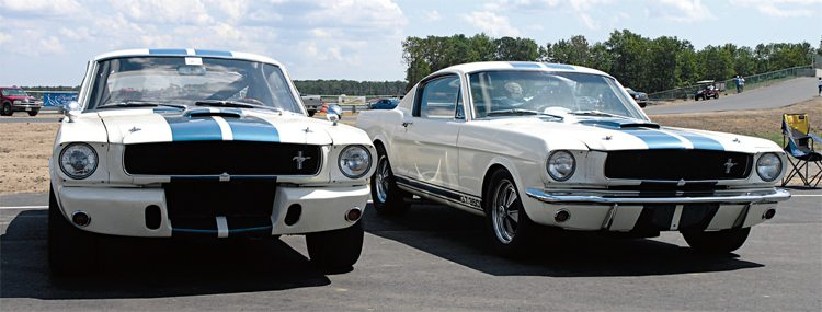The fact that the 1965 street GT350 and its race cousin appeared very similar as they left the factory was no accident, the visual similarity was carefully calculated by Shelby American to ensure cross-product identification between the two GT350 versions.