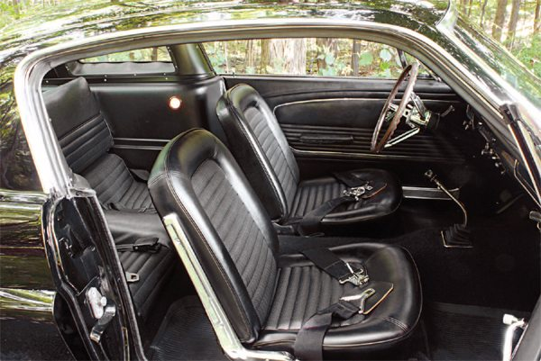 The interior of the 1966 Shelby mirrored the 1965 cockpit in many ways. Two differences were the availability of a radio and an optional rear seat. The rear seat was a financial windfall of sorts— Shelby American collected $50 from buyers for an option that was essentially free in the Mustangs that came from San Jose.
