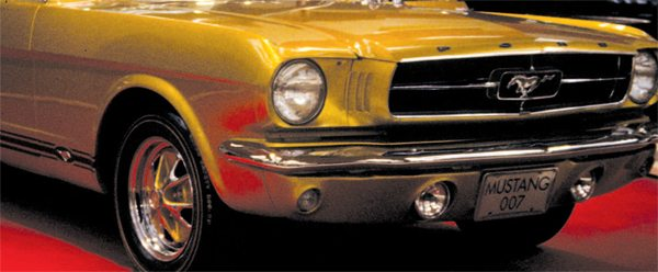 "One of the ideas tossed around Shelby American for the 1966 GT350 was a front valance incorporating fog lights; a prototype pan with lights was ordered from Dearborn Steel Tubing (DST). DST built many of Ford's show cars, most likely including the ""007 Mustang"" displayed at the 1965 New York Auto Show, so it's a good guess that the Shelby valance, if adopted, would have closely resembled that on the 007 pony. (Photo Courtesy Philip M. Donadio)"