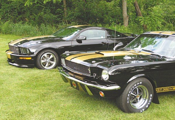 Forty years after the first Shelby/Hertz deal was kicked off, the two were at it again, this time with 500 black-andgold 2006 Shelby GT-H cars. It was the first Shelby Mustang since 1969 and initiated a re-teaming of the two entities that became as popular as the first time around. When Shelby and Hertz unveiled the 2006 rent-a-racer at auto shows and events, an original 1966 edition car was on-hand to provide comparison; the familial resemblance was obvious