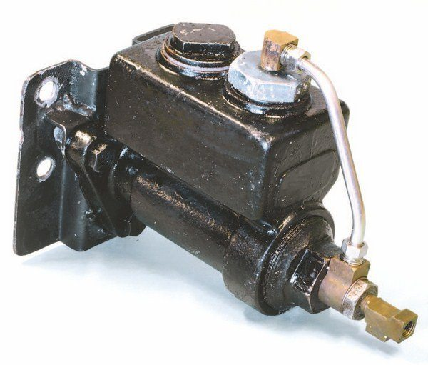 In an effort to improve the low-speed stopping characteristics of the GT350H (with its race-type metallic brake pads and linings, which were relatively ineffective until warmed up), the Minnesota Automotive Company, or MICO, master cylinder was fitted to about the first 400 rental cars. It used a complex staged piston arrangement that gave it the nickname of the piggyback unit. The dual pistons produced an unusual brake pedal feel.