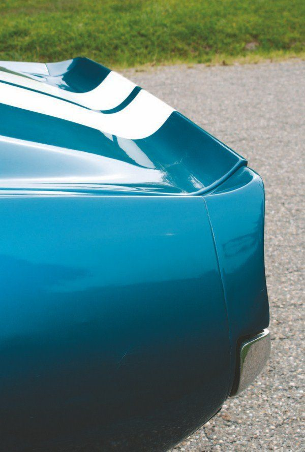 Inspired by the GT40, the rear ducktail spoiler was the most distinct feature of the whole 1967 Shelby styling package, in the opinion of stylist Charlie McHose. The ducktail was here to stay and remained as a staple of Shelby styling until the end of the line in 1970. It even found its way onto the rear of standard Mustangs beginning in 1969.