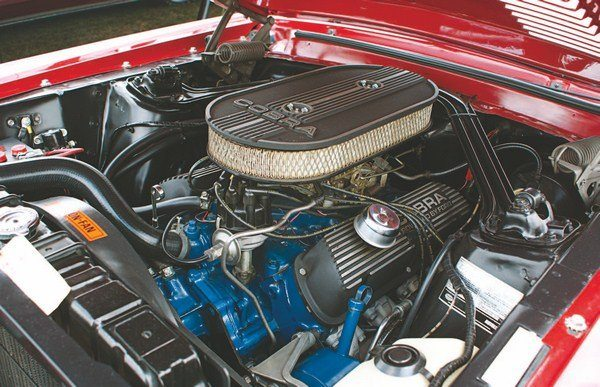 Powerplant for the 1968 GT350 shifted from the tried-and-true HiPo 289 to a hydraulic-liftered 302. Standard 302 exhaust manifolds were used, the lowrestriction HiPo units having been done away with.