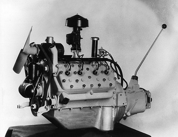 The first mass-produced monobloc V-8, with a cam-driven distributor and integral coil, went into production on March 9, 1932. (Photo Courtesy Fordimages.com)