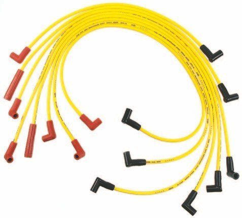 Accel offers its signature 4000 Series yellow silicone-jacket spiral copper-core 7-mm plug wires with universal 90-degree red/black boots (also available in other colors). (Photos Courtesy Accel)