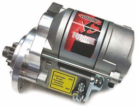 Powermaster produces two lightweight, 200 ft-lb XS Torque starter motors: one for the 1932–1952 models and another specifically for the French blocks. Both are available with either plain or chrome finish. Early Ford V-8 Sales in South Carolina also makes a starter.