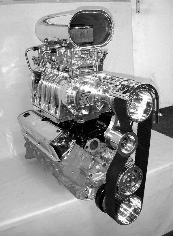Kuhl Superchargers of Santa Ana, California, offers street blower kits for both the Ford 289-302W and the 351W small-block V-8 engines. Kuhl manufactures every component under one roof – blower cases, intake manifolds, blower drives and gears, carburetor and throttle body intakes, and fuel systems.