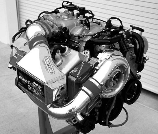 Vortech's 4.6L DOHC Cobra Mod Motor application for the 1999- 2000 models with aftercooler feature is capable of producing 436 hp and 422 ft-lbs of torque.