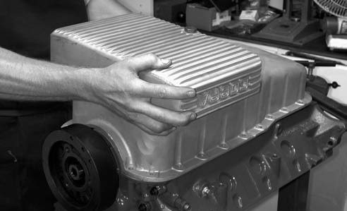11. Of course, this is followed with installing the original Shelby American Toil pan using the ARP oil pan bolts provided in the ARP Engine Hardware kit.