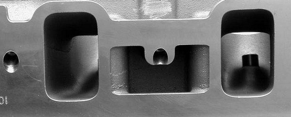 The intake port volume on these heads checks in at a whopping 204 cc!