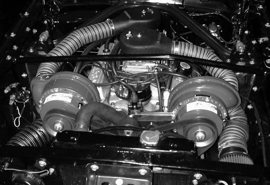 20. And this is what the twin Paxton supercharged, straight blow-through dual-quad setup looks like completed. Now it's off to the dyno shop!