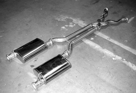 27. This is the complete ceramic-coated Doug's Headers X-pipe and Magnaflow exhaust system prior to installation.
